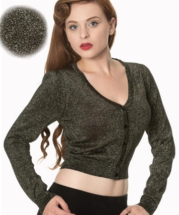A Starry Night Cardigan -Gold