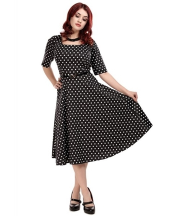 Amber Polka Dot Swing Dress
