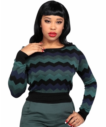 Machi Zig Zag Knitted Top