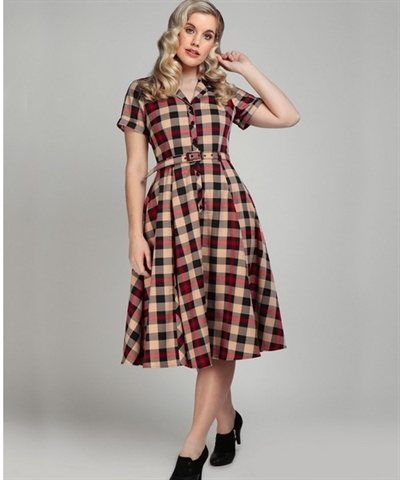 Caterina Mckenzie Check Swing Dress