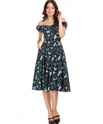 Dolores Midnight Butterfly dress