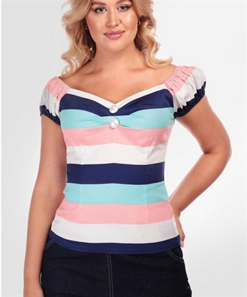 Dolores Seaside Stripes Top