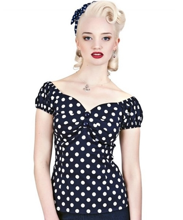 Dolores polkadot Top