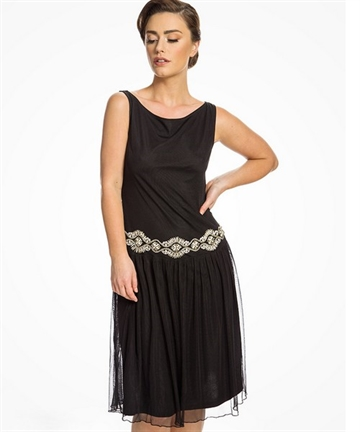 Giselle Black 1920s dress