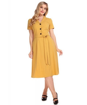 Hattie 40s Flared Dress