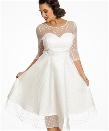 Abigale Ivory swing dress