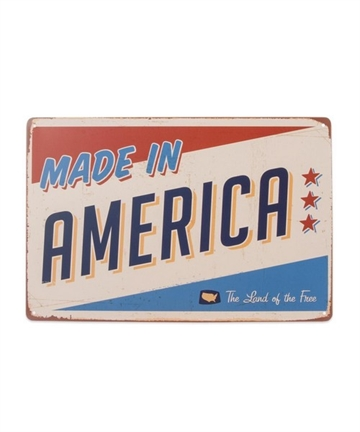 Metal skilt - Made in America