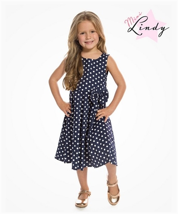 Mini Grace - Navy Polka