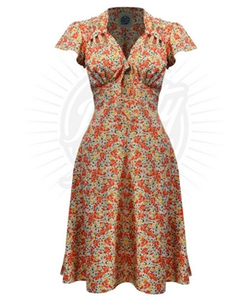 66f5e938deae Pretty 40s Tea Dress in Ditsy
