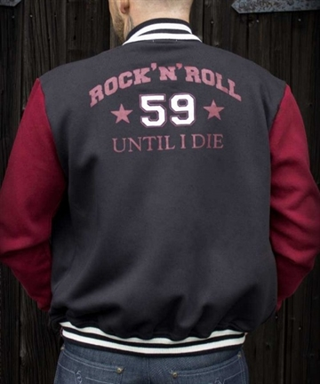 College Sweat Jacket - R'n'R until I die