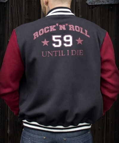 College Sweat Jacket - R\'n\'R until I die