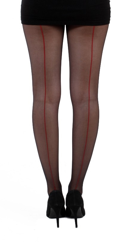 Jive seamed tights blk/red
