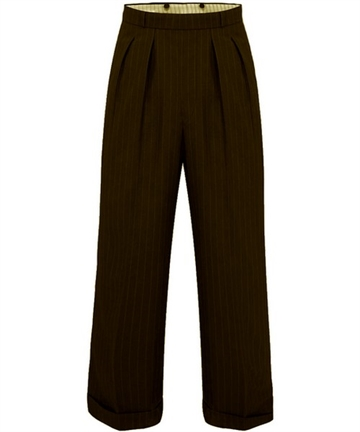 1940s swing trousers Brown Stripe