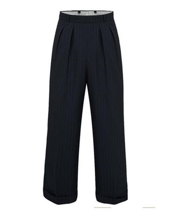 1940s swing trousers Navy Stripe