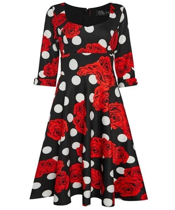 Debra Dress Dots & Roses